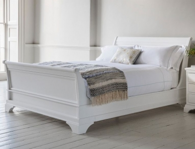 Frank Hudson Aurelia Chalk Bedstead - High Foot End