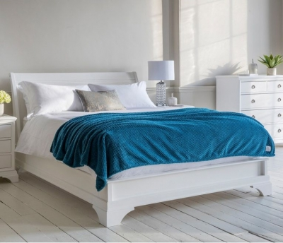 Frank Hudson Aurelia Chalk Bedstead - Low Foot End