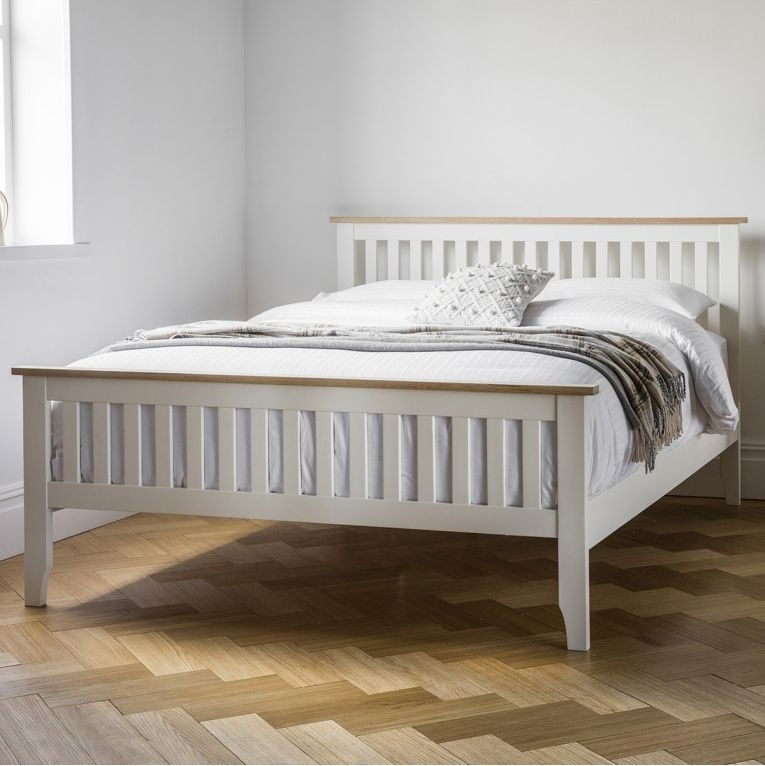 Frank Hudson Banbury 5ft King Size White Bed - High Foot End