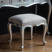 Frank Hudson Chic Silver Dressing Stool