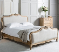 Frank Hudson Chic Weathered with Natural Cotton Linen 6ft Queen Bed
