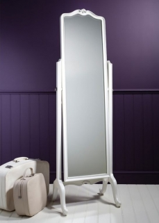 Frank Hudson Chic Chalk Cheval Mirror