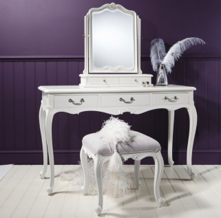 Frank Hudson Chic Dressing Table - Vanilla White