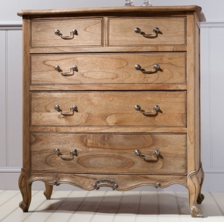 Frank Hudson Chic 3+2 Drawer Chest - Weathered