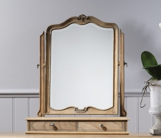 Frank Hudson Chic Arch Table Mirror - 60cm x 73cm Weathered
