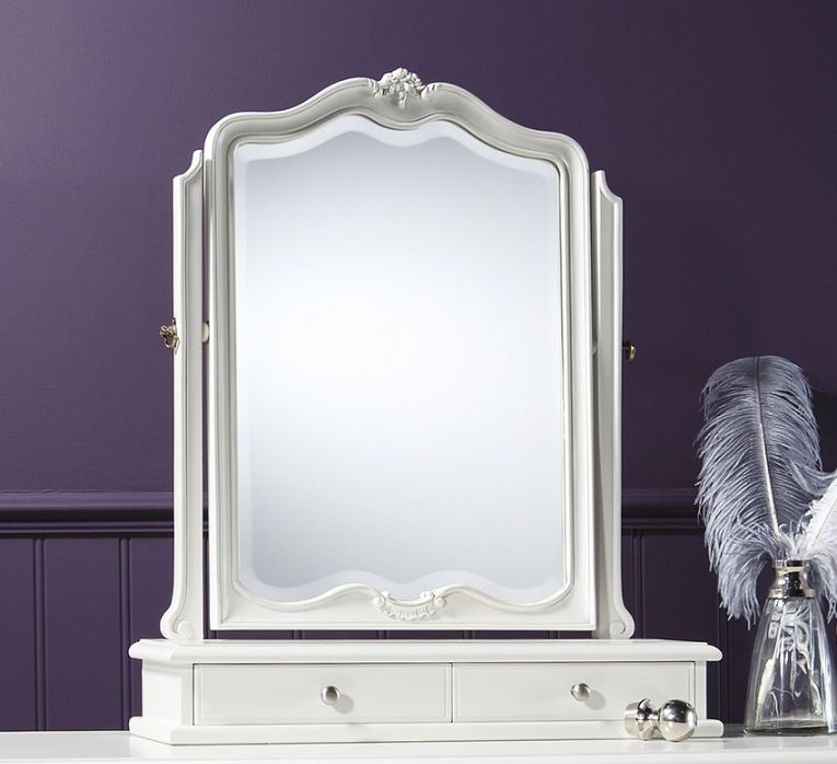 Frank Hudson Chic Chalk Table Mirror