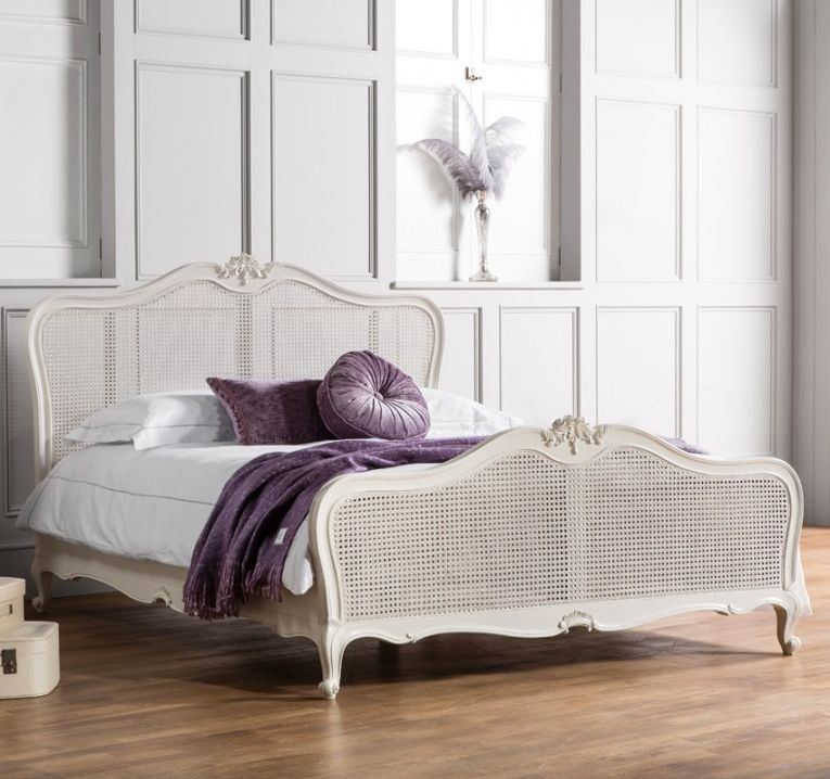 Frank Hudson Chic Vanilla with Cane Bed - 6ft Queen Size