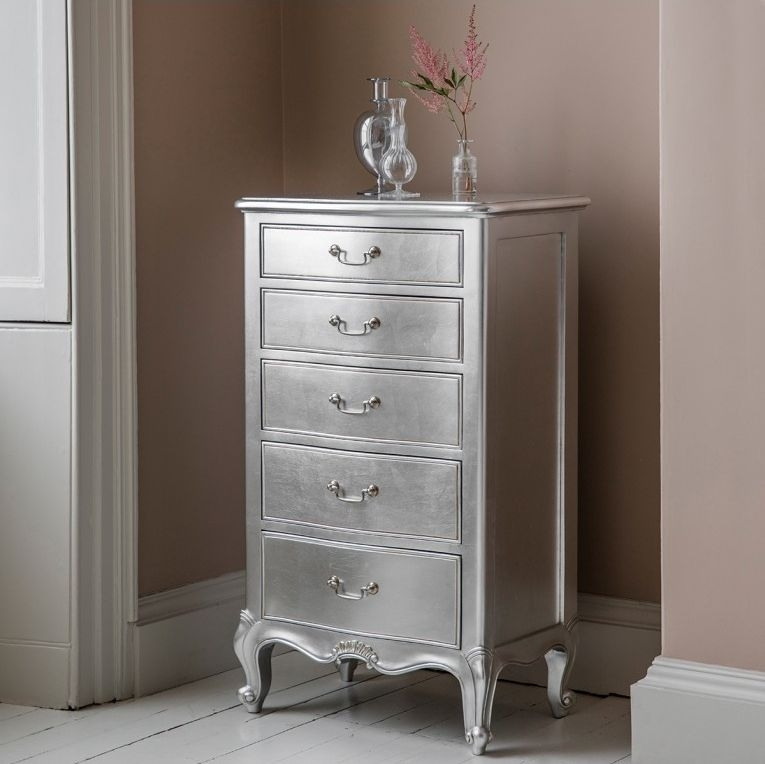 Buy frank hudson chic silver lingerie chest of drawer