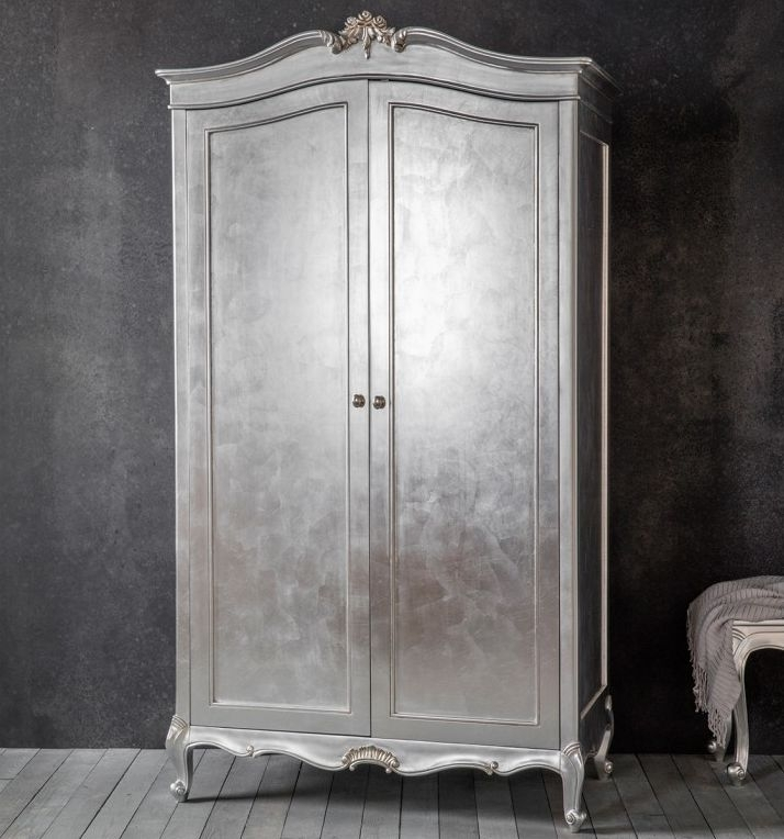 Frank Hudson Chic 2 Door Double Wardrobe - Silver
