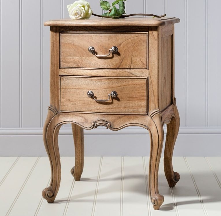 Frank Hudson Chic Weathered 2 Drawer Bedside Cabinet