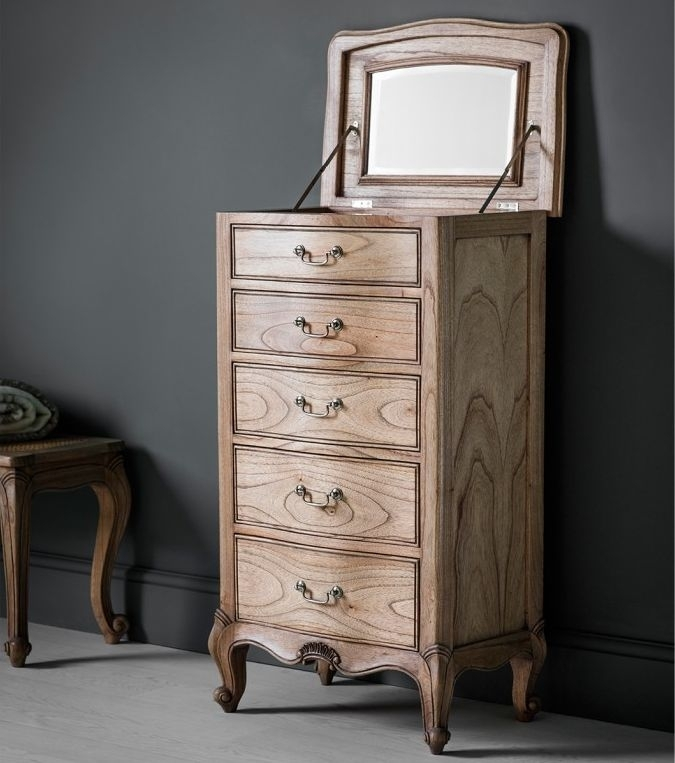 Frank Hudson Chic Lingerie Weathered 5 Drawer Chest of Drawer