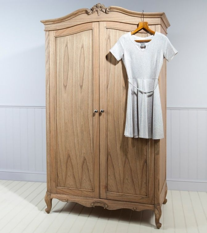 Frank Hudson Chic 2 Door Wardrobe - Weathered