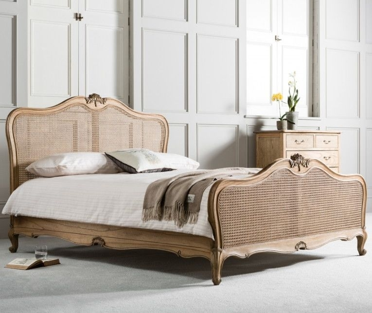Frank Hudson Chic Weathered with Cane 6ft Queen Bed