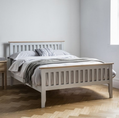 Clearance Frank Hudson Banbury Grey Bed - High Foot End