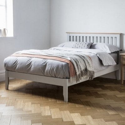 Clearance Frank Hudson Banbury Grey Bed - Low Foot End