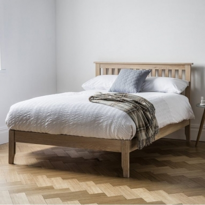 Clearance Frank Hudson Banbury Oak Bed - Low Foot End