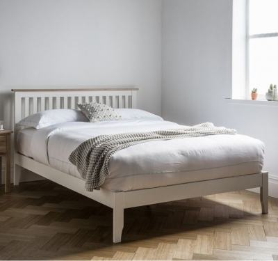 Clearance Frank Hudson Banbury White Bed - Low Foot End