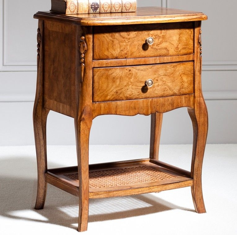 Frank Hudson Collection Des Articles Lamp Table - 2 Drawer with Shelf