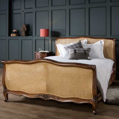 Frank Hudson Louis XV Blonde Antique Bedstead