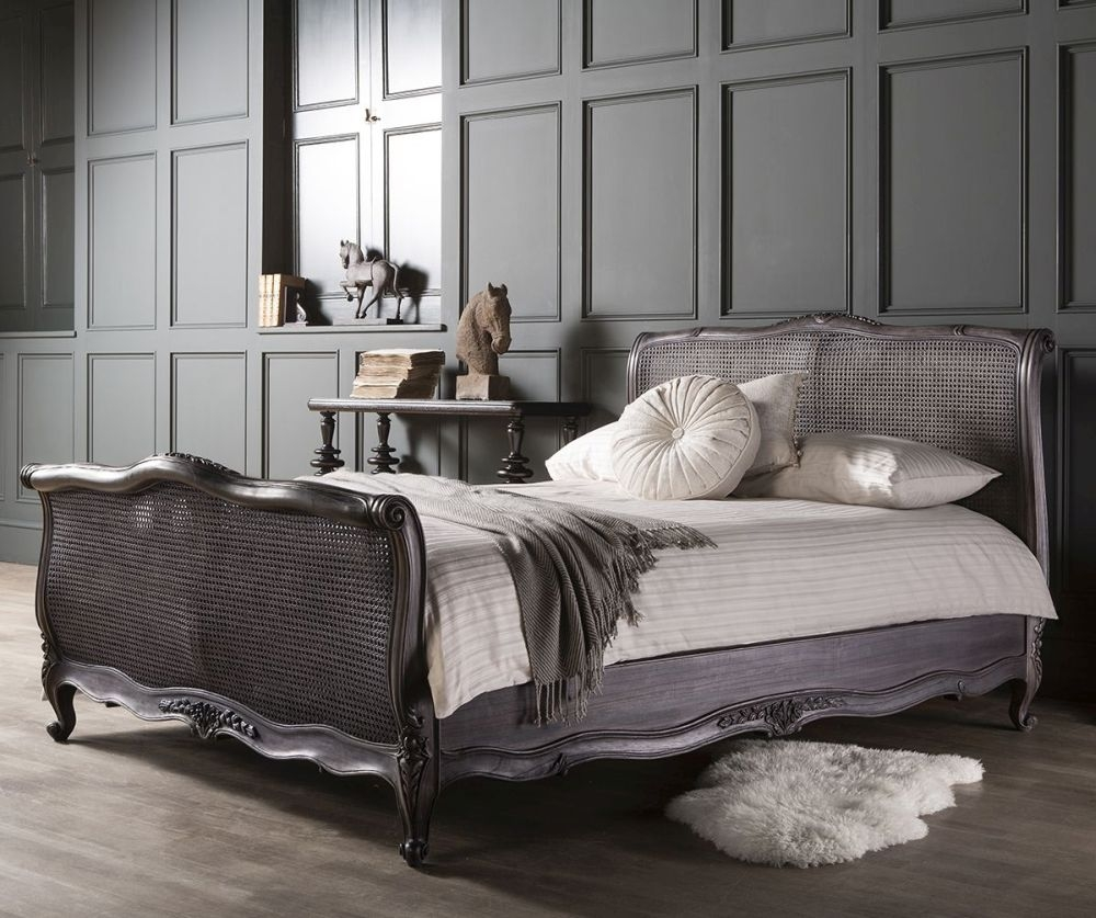 Frank Hudson Louis XV Charcoal Bedstead - 5ft King Size