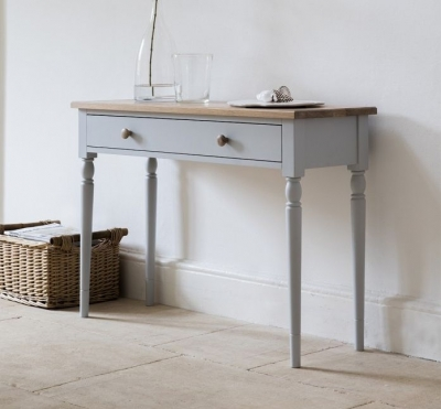 Frank Hudson Marlow Soft Grey Paint Console Table