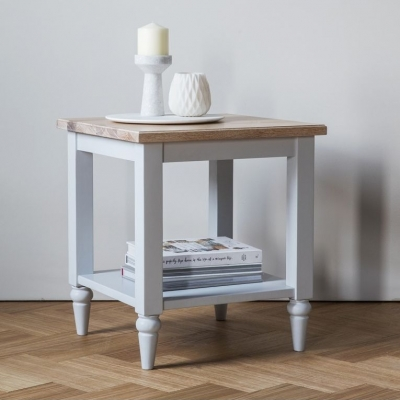 Frank Hudson Marlow Soft Grey Paint Side Table
