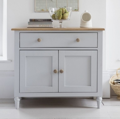 Frank Hudson Marlow Soft Grey Paint Sideboard - 2 Door 1 Drawer