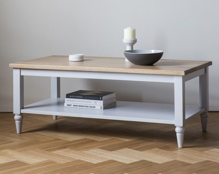 Frank Hudson Marlow Soft Grey Paint Coffee Table