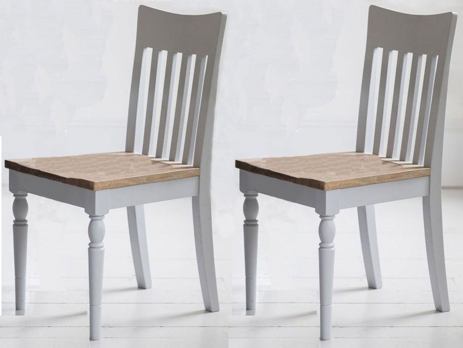 Frank Hudson Marlow Soft Grey Paint Dining Chair (Pair)