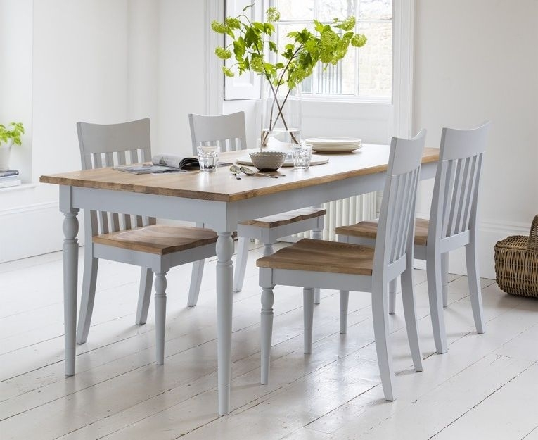 Frank Hudson Marlow Soft Grey Paint Dining Table