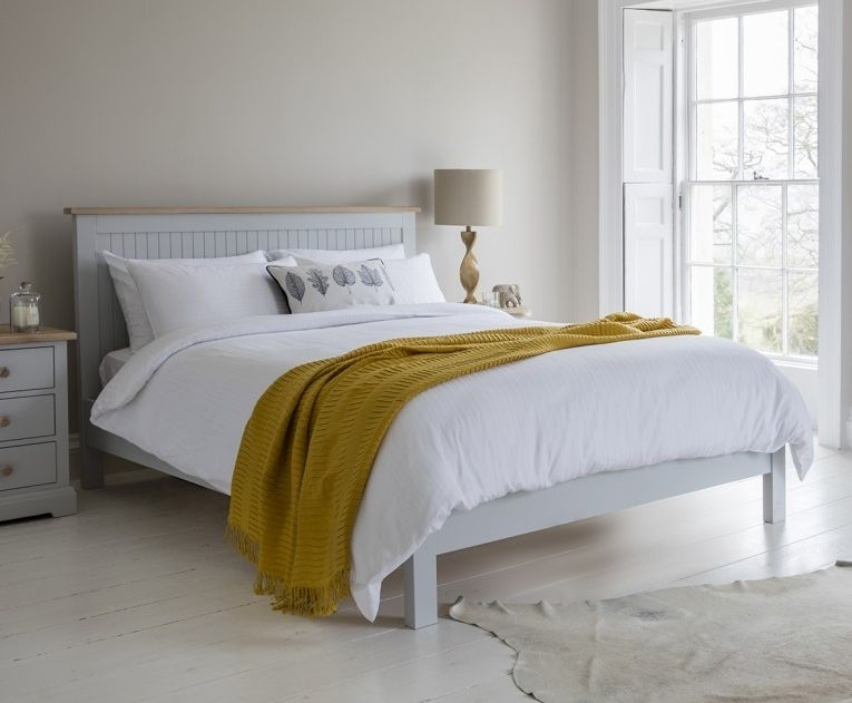 Frank Hudson Marlow Soft Grey Paint Panel Bed