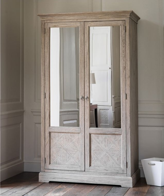 Frank Hudson Mustique Mirror Wardrobe - 2 Door