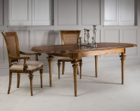 Frank Hudson Spire Oval Extending Dining Set with 2 Dining Chairs and 2 Armchairs - 170cm-220cm