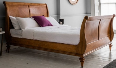 Frank Hudson Spire 6ft High End Sleigh Bed - Walnut