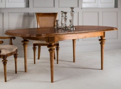 Frank Hudson Spire Oval Extending Dining Table - Walnut
