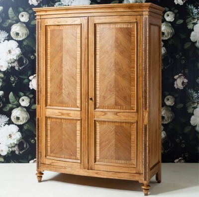 Frank Hudson Spire 2 Door Double Wardrobe - Walnut