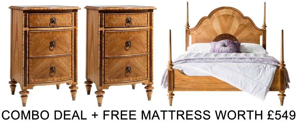 Frank Hudson Spire 5ft Bed Combo with Free Mattress