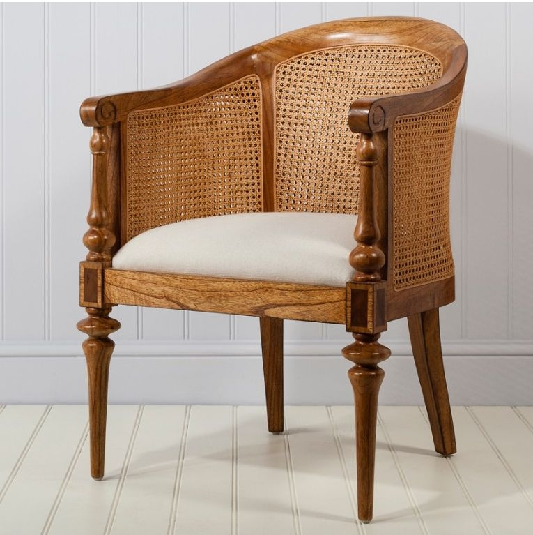 Frank Hudson Spire Bedroom Chair - Walnut
