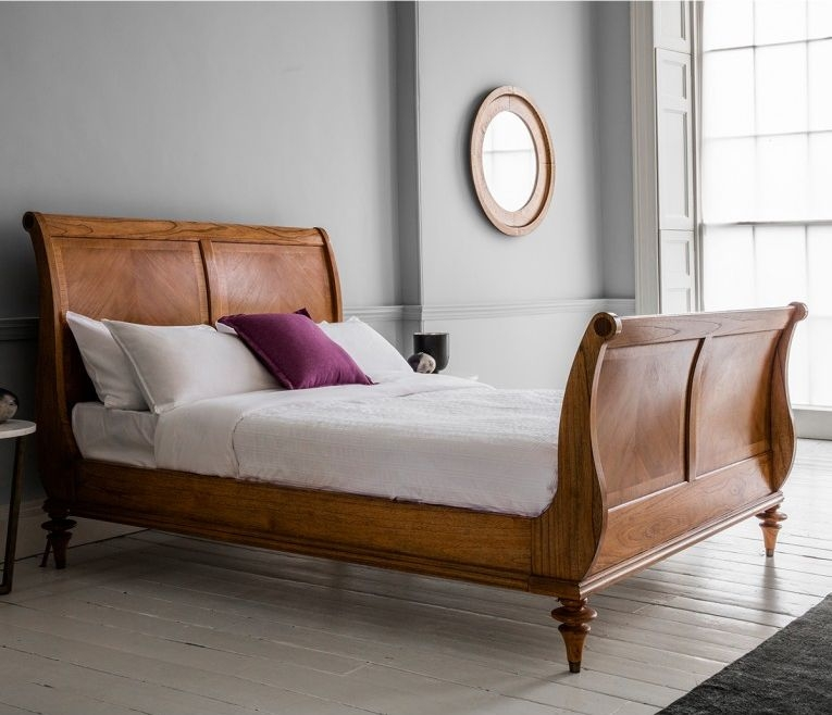 Frank Hudson Spire High End Sleigh Bed - 5ft King Size