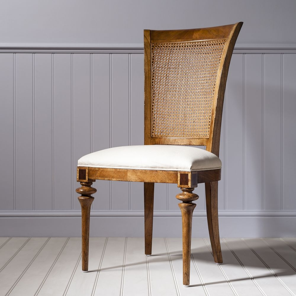 Frank Hudson Spire Cane Back Dining Chair - Walnut