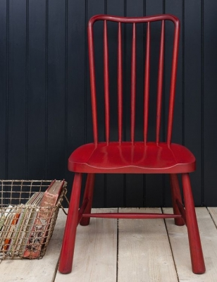 Frank Hudson Wycombe Red Dining Chair (Pair)