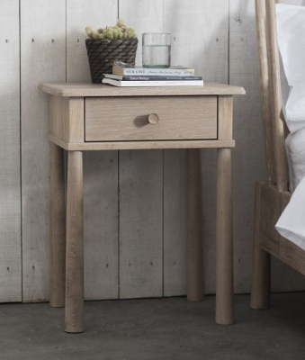 Frank Hudson Wycombe Oak Bedside Table - 1 Drawer