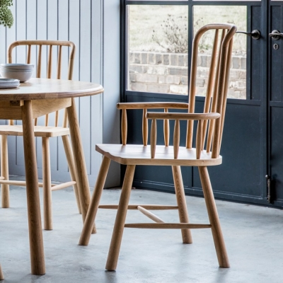 Frank Hudson Wycombe Oak Carver Dining Chair (Pair)