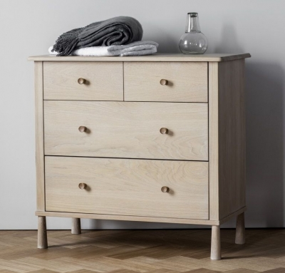 Frank Hudson Wycombe Oak Chest of Drawer - 4 Drawer