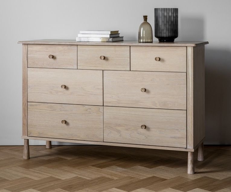 Frank Hudson Wycombe Oak Chest of Drawer - 7 Drawer
