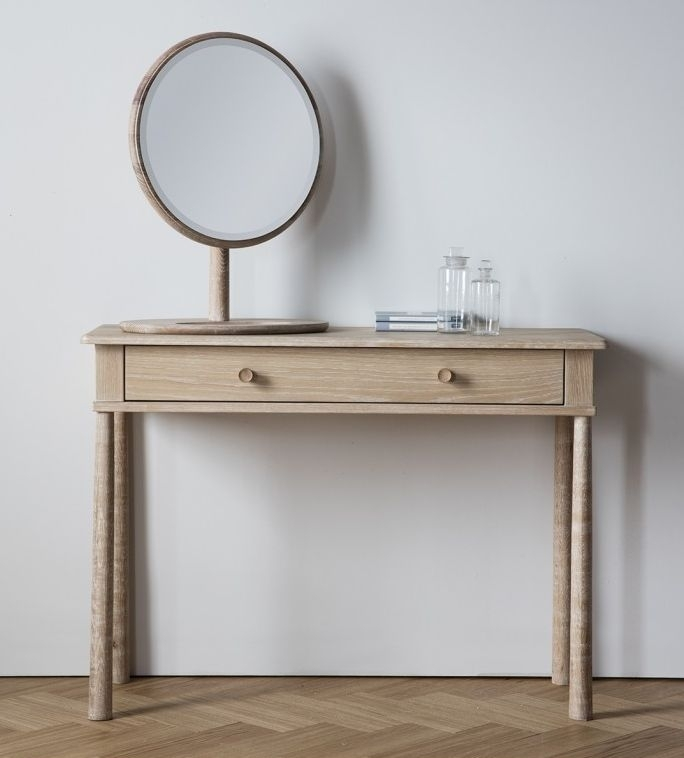 Frank Hudson Wycombe Oak Dressing Table with Drawer