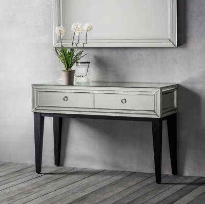 Hudson Living Aster Accent Mirrored Console Table