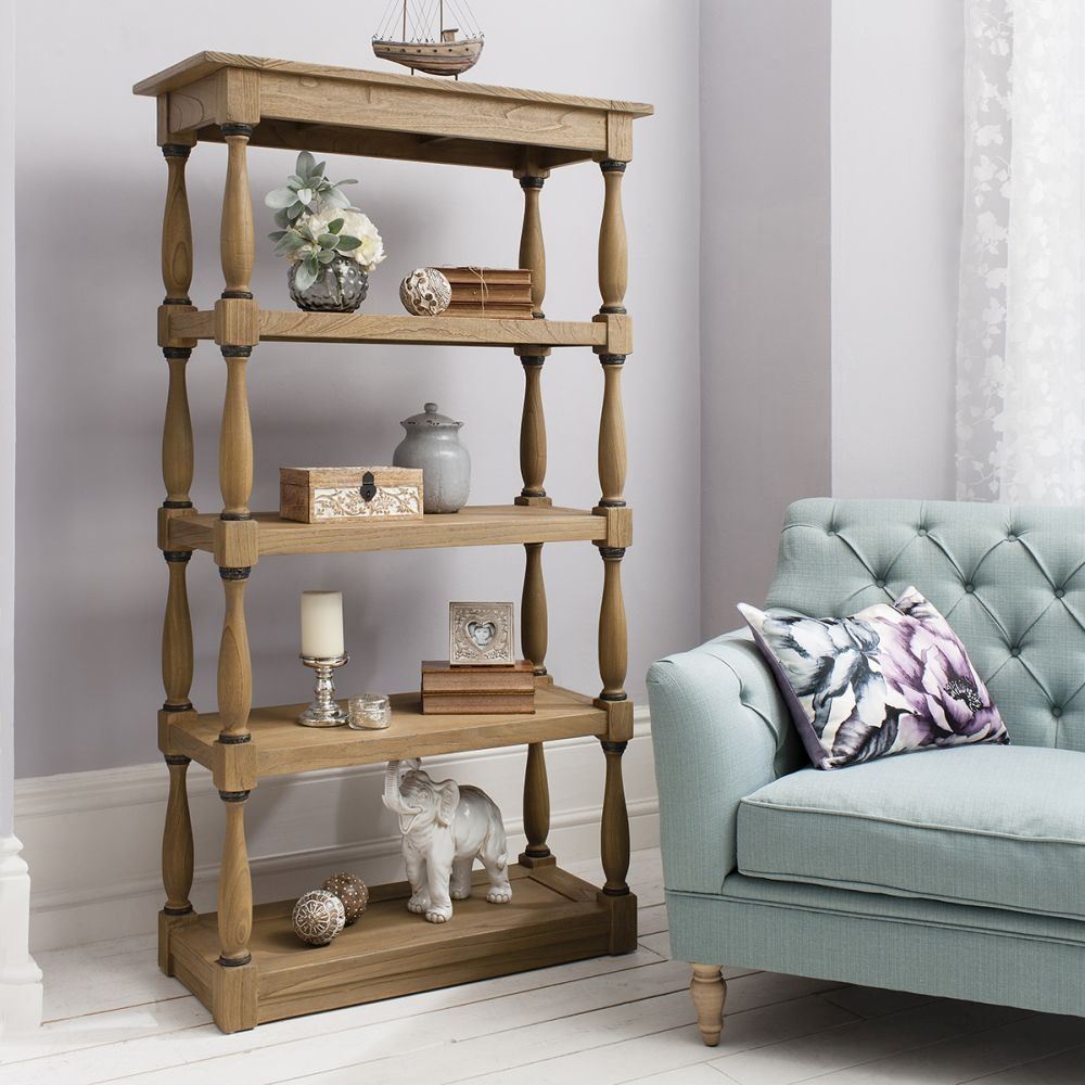 Hudson Living Cotswold Display Cabinet - Open