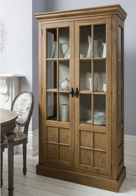 Hudson Living Casa Weathered Display Cabinet