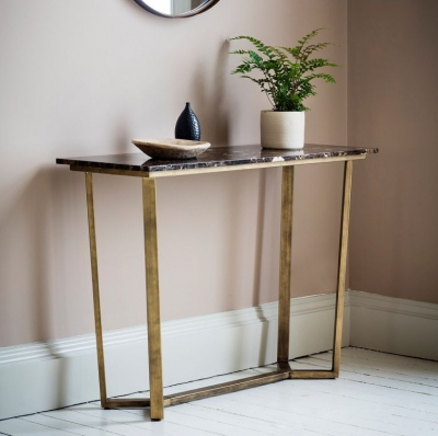 Hudson Living Emperor Marble Console Table